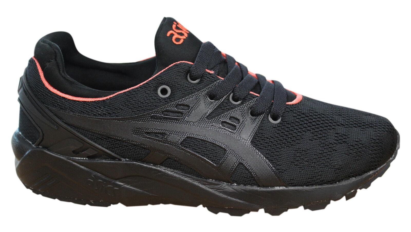 Asics Gel-Kayano Zapatillas EVO Zapatos Mujer Cordones Textil Negro h7q6n 9090