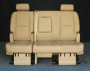 Fabulous Details About 2011 2010 2009 Escalade Esv Yukon Xl Denali 2Nd Row Bench Seat Cashmere Tan Squirreltailoven Fun Painted Chair Ideas Images Squirreltailovenorg