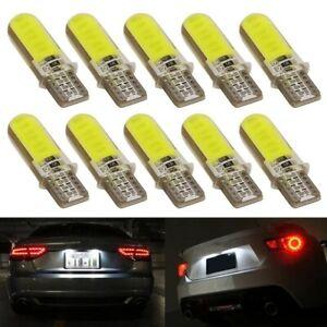 10-Veilleuses-LED-COB-W5W-T10-ANTI-ERREUR-SILICON-BLANC-XENON-6500k-voiture-moto