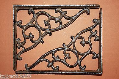 (4) Victorian Style, Shelf Brackets, Corbels,étagère,cast iron shelf bracket B-1