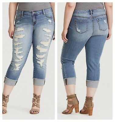 NEW Lucky Brand Sz 31//12 Bridgette Skinny Crop Ankle Jeans Distressed High Waist