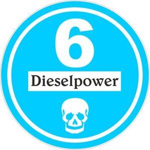 Feiner Staub Plakette Blaue Plakette Dieselpower 6 Sticker