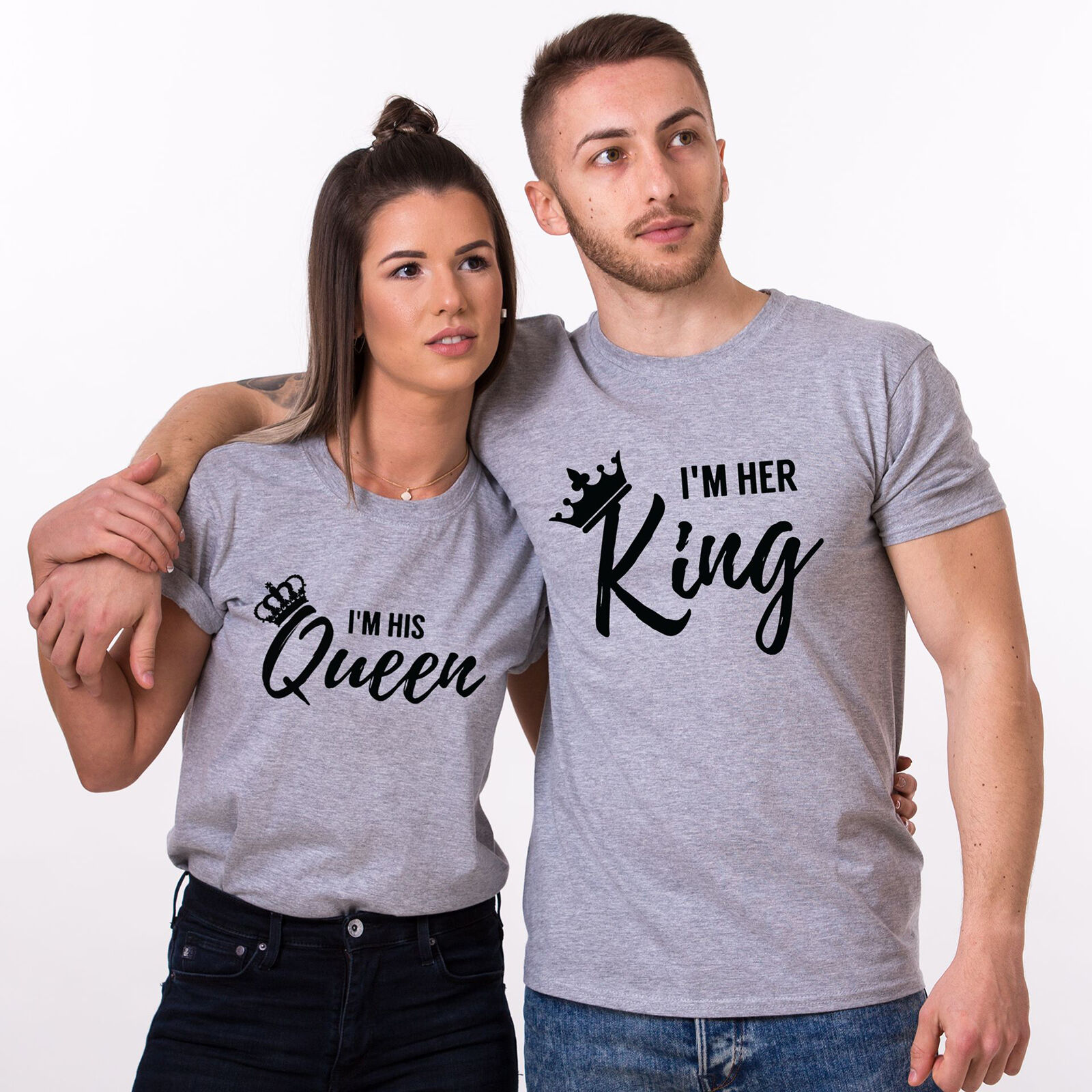 76c143963e I'm Her KING His QUEEN T-Shirts Matching Couple Shirts Valentine's ...