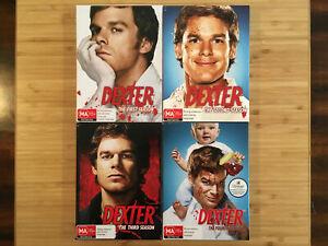 Dexter-Season-1-2-3-amp-4-Australian-PAL-Region-4-DVD-Aus-Stock-Free-Post