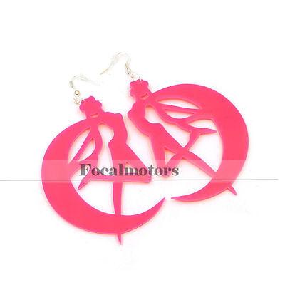 Cosplay Sailor Moon Tsukino Usagi Earrings Ear Hook Girl Lady Ear Jewelry Rose