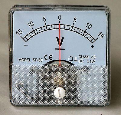 DC-Analog-Volt-Meter-Panel-Mount-15-0-15-PM15015-DC