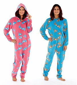 Ehrgeizig Ladies Horse All In One Pyjama Fleece Onepiece Sizes 10-20 Kleidung & Accessoires blue Or Pink Komplette Artikelauswahl
