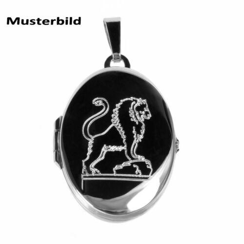 Medallón árbol de la vida también con grabado estrella caracteres y cadena amuleto 925 plata