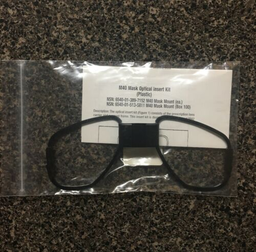 M40 Gas Mask Optical Insert Glasses Mounting Frame New