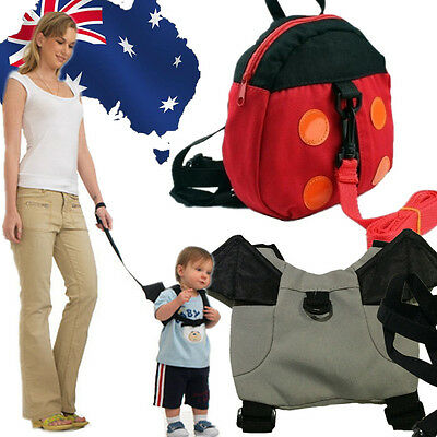 Toddler Safety Harnesses Symbol Of The Brand Baby Keeper Toddler Walking Safety Harness Backpack Bag Ladybird Bat Sbbag63 Beneficial To The Sperm