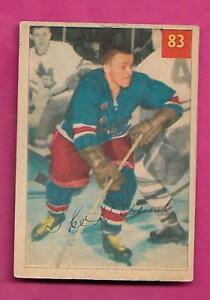 1954-55-PARKHURST-83-RANGERS-IKE-HILDEBRAND-ROOKIE-VG-CARD-INV-A9261