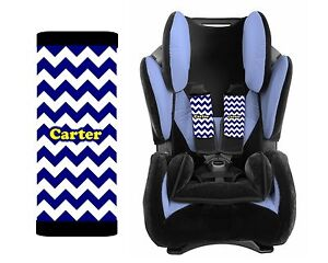 Outstanding Details About Personalized Baby Toddler Car Seat Strap Covers Set Of 2 Blue Chevron Yellow Dailytribune Chair Design For Home Dailytribuneorg