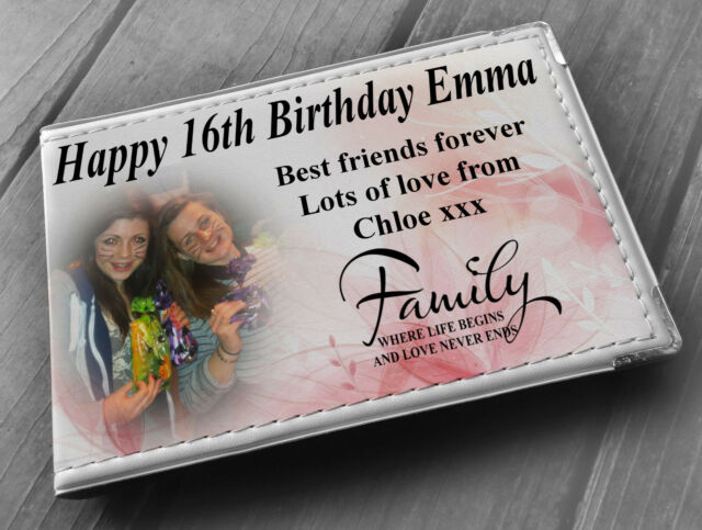 Personalised faux leather photo album memory book happy 18th birthday gift