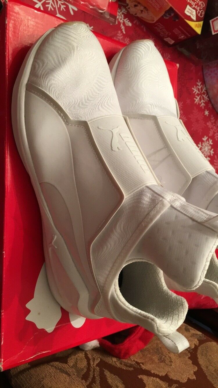 All white Pumas For Women Size 10