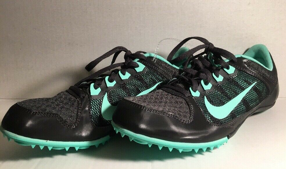 NIKE ZOOM RIVAL MD Womens Black Teal Track,Racing,Multi-use Sport Shoes Size 12