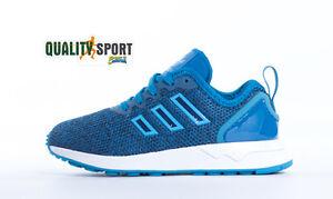 quality design 046d1 3f780 SPEDIZIONE GRATUITA. Caricamento dell immagine in corso Adidas-ZX-Flux -ADV-Azzurro-Blu-Scarpe-Shoes-