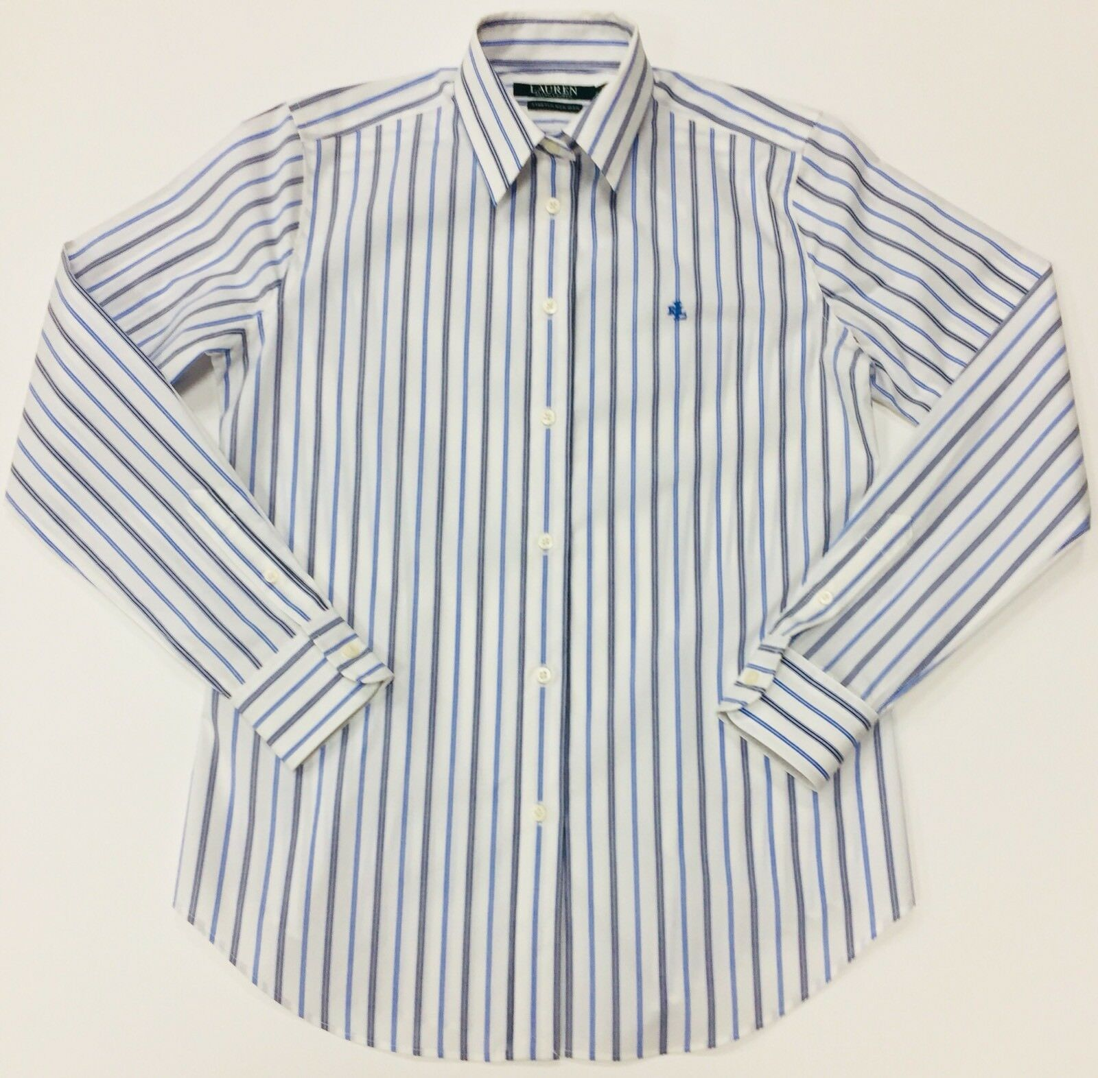 RALPH LAUREN LAUREN COTTON NON IRON daMänner STRIPED Hemd