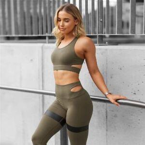 Fitness Gym Leggings Tracksuit Sports Bra Seamless Workout Yoga Set Clothing New