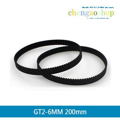 2pcs 102-1524mm 2GT Closed Loop 6mm Width GT2 Timing Belt For 3D printer CNC