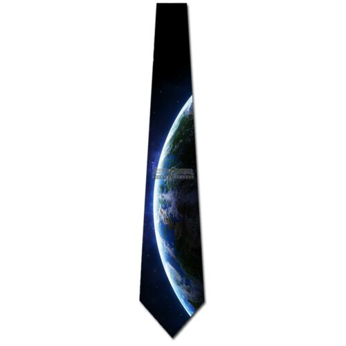 View From Space Earth Tie Mens Space Ties Astronomy Necktie