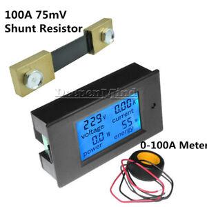 100A-LCD-Digital-Volt-Watt-Current-Power-Meter-Ammeter-Voltmeter-Meter-Shunt