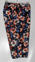 St John's Bay Woman Secretly Slender Classic Fit Floral Crop Pants Multi 18w