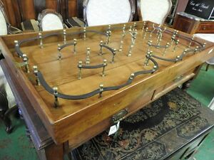 Originale antico grande gioco da tavolo in legno con trottola dell 39 800 ebay - Gioco da tavolo non t arrabbiare ...