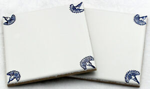 10x10 De Cuisine Carrelage Delft Type Avec Eckdekoren, Oeillets, Mosaïque, Bleu-blanc-afficher Le Titre D'origine