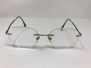 8d126eb690c Giorgio Armani Vintage Eyeglasses Rimless GA800 R81 47-19-146 Silver ...