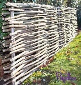 Image Is Loading Woven Wooden Hazel Hurdle Fencing Panel Birchwood Capped