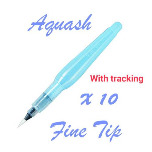 10 pc of Pentel Aquash Water brush pen Fine tip