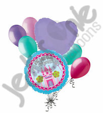 7 pc Get Well Soon Princess Castle Balloon Bouquet Decoration Love You Girl