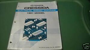 1991 toyota cressida electrical wiring diagram service shop manual rh ebay com 91 Cressida Custom Toyota Cressida