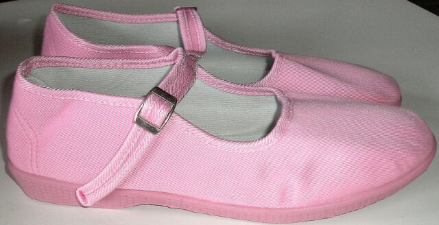 Adini -Mary Jane Canvas Yoga Shoes-Made In China-Pink