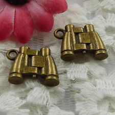 Free Ship 90 pieces bronze plated telescope charms 17x13mm #1050