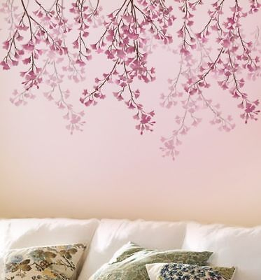 Reusable Stencils of a Cherry Blossom in Multiple Sizes Cherry Blossom Stencil