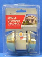 Guard Security Single Cylinder Gold Deadbolt Lock 281hdpbfds