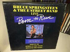 "BRUCE SPRINGSTEEN Born To Run UK 2 x 7"" box set CBS BRUCE B2 1986"