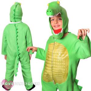Image is loading CHILD-CROCODILE-COSTUME-ANIMAL-FANCY-DRESS-ALLIGATOR-BOYS-  sc 1 st  eBay & CHILD CROCODILE COSTUME ANIMAL FANCY DRESS ALLIGATOR BOYS GIRLS ...
