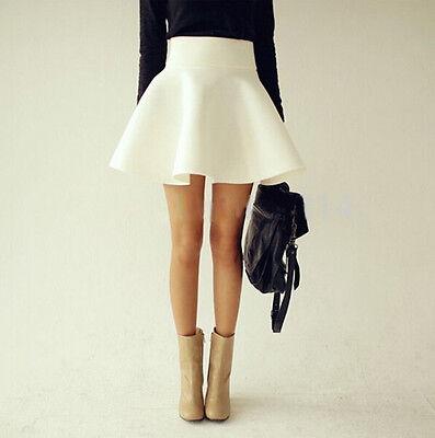 Mini Gonna Donna Vita Alta High Waist Mini Skater Ball Skirts 130010 P