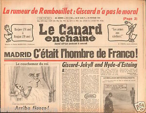 CANARD-ENCHAINE-Birthday-Newspaper-JOURNAL-NAISSANCE-25-FEVRIER-FEBRUARY-1981