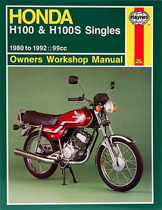 Haynes-Manual-0734-Honda-H100-amp-H100S-Singles-80-92-workshop-service-etc