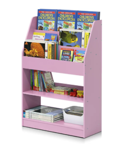 Image Is Loading Bookcase Book Display Small Wood Bookshelf Organizer Kids