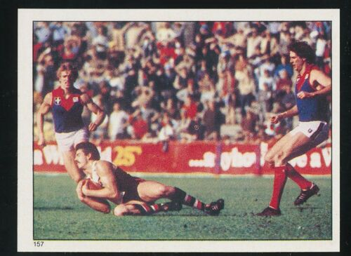 1983 Scanlens Stickers St Kilda Saints Mark Scott No 157 sticker Mint