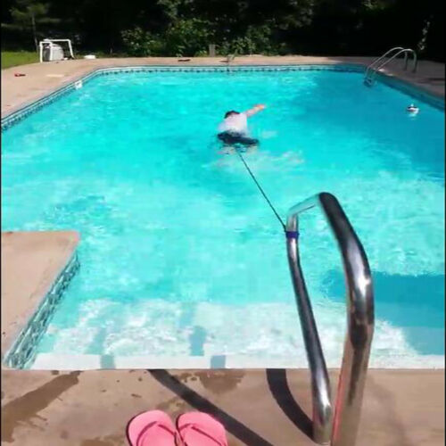 BEST Swim Bungee Training Belt Swim Resistance Leash Exerciser Tether Aid Harnes