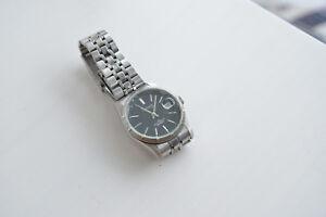 Madison-N-Y-New-York-Armbanduhr-Automatic-Datumsanzeige-Glasboden-Edelstahlband