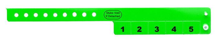 500 Neongrün Vinyl Armbänder bar Register 5-STUB | Sehr gute Qualität  | Zart