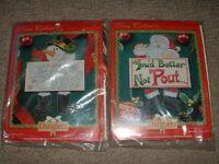 2 True Colors Danglers Christmas Cross Stitch Kits Sealed