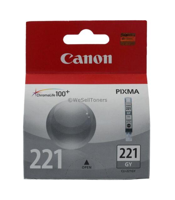 Canon CLI-221 Gray Ink Cartridge CLI-221GY 2950B001 Genuine New Sealed Box
