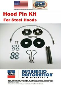 "Stainless Steel Hood Pin Kit 18/"" NEW"